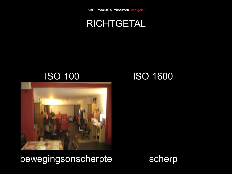 KBC-Fotoclub : cursus flitsen : richtgetal RICHTGETAL ISO 100ISO 1600 bewegingsonscherptescherp