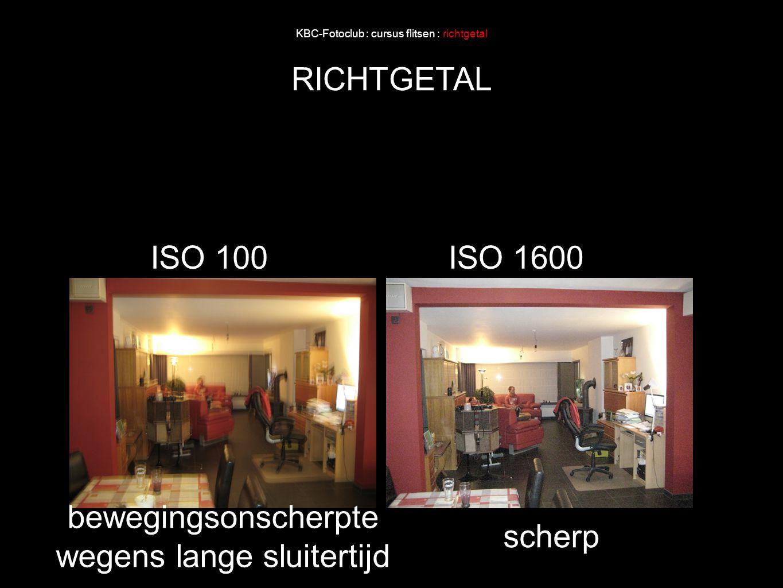 KBC-Fotoclub : cursus flitsen : richtgetal RICHTGETAL ISO 100ISO 1600 bewegingsonscherpte wegens lange sluitertijd scherp