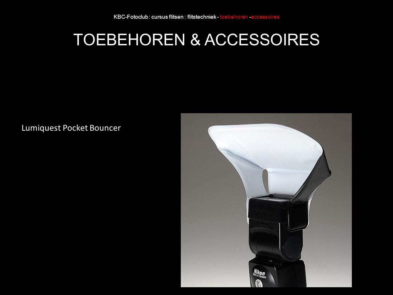 KBC-Fotoclub : cursus flitsen : flitstechniek - toebehoren -accessoires TOEBEHOREN & ACCESSOIRES Lumiquest Pocket Bouncer