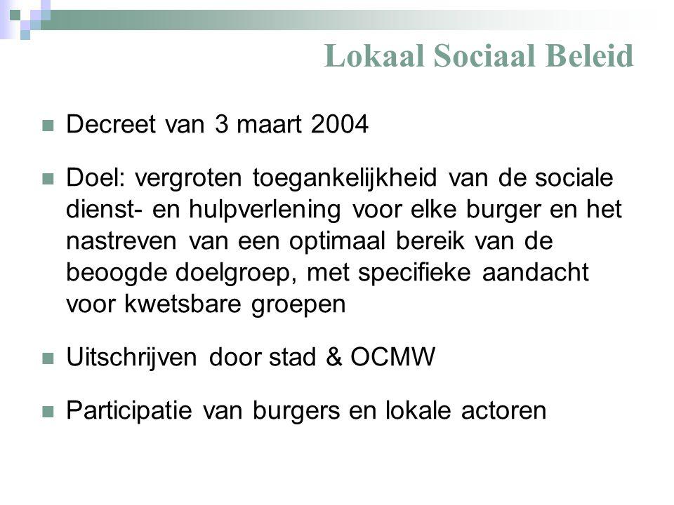 Lokaal Sociaal Beleid Inhoud van het plan (art.