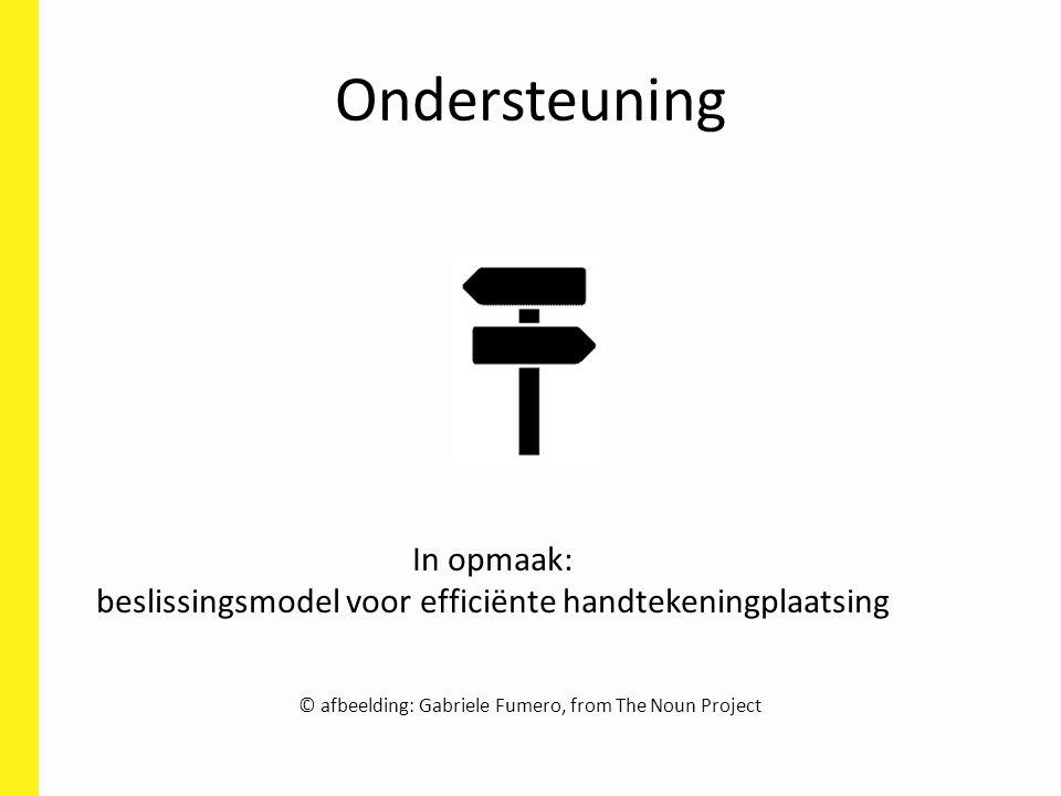 Ondersteuning In opmaak: beslissingsmodel voor efficiënte handtekeningplaatsing © afbeelding: Gabriele Fumero, from The Noun Project