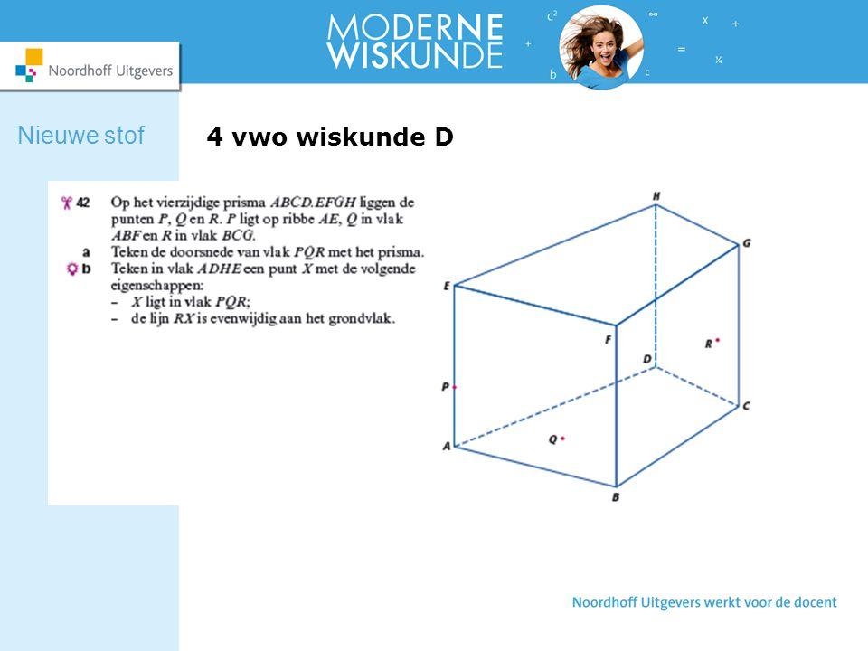 4 vwo wiskunde D Nieuwe stof