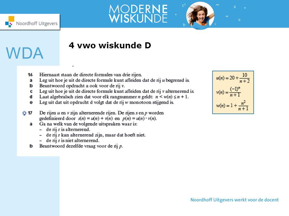4 vwo wiskunde D WDA