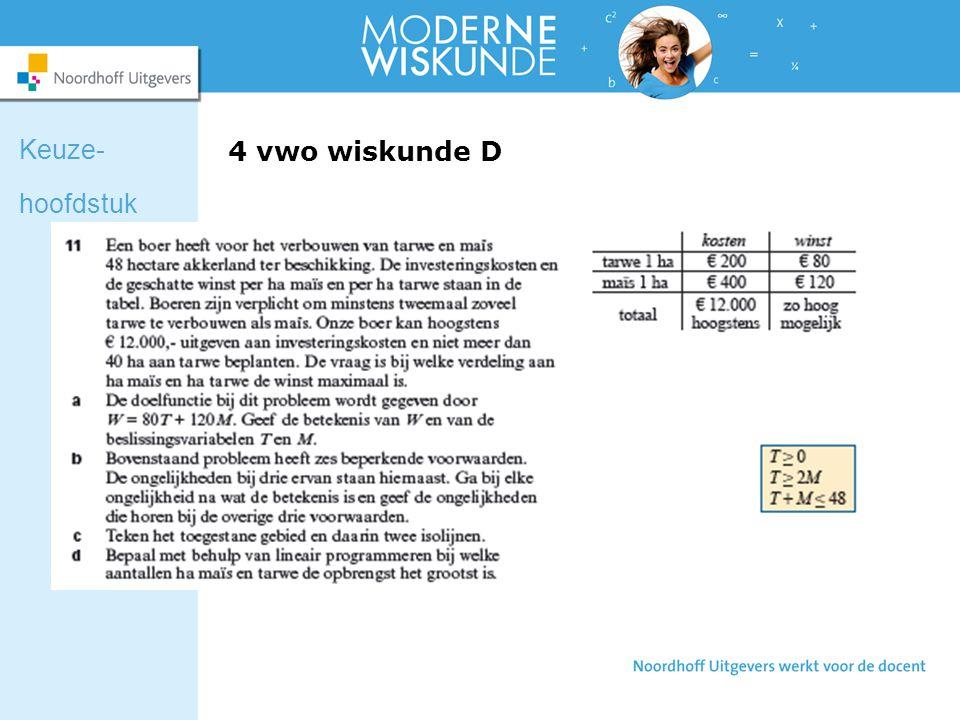 4 vwo wiskunde D Keuze- hoofdstuk