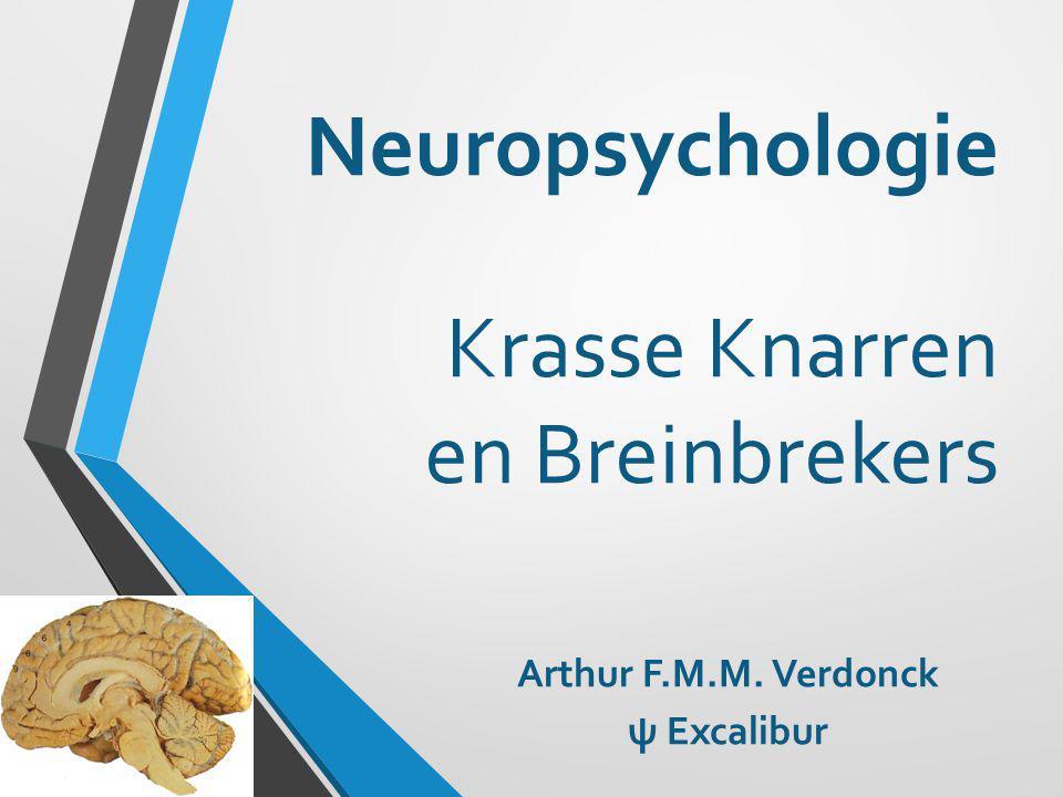 Neuropsychologie Studie van de relatie tussen hersenen en gedrag bij intact en beschadigd zenuwstelsel ψ