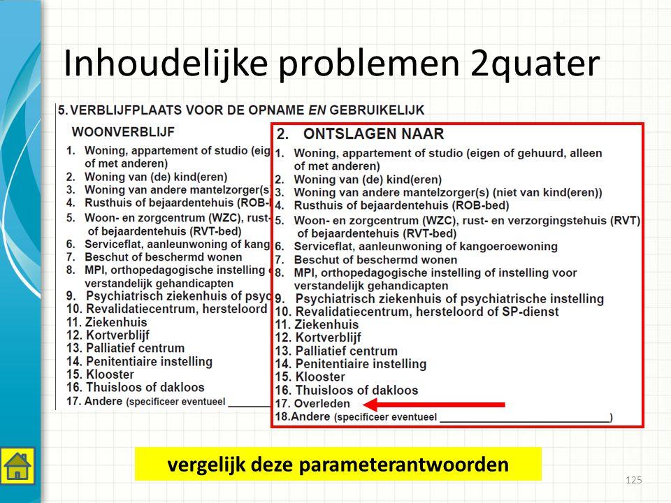 Inhoudelijke problemen 2quater 125 vergelijk deze parameterantwoorden