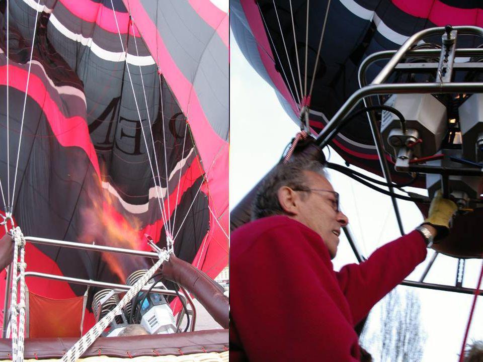 Temperatuur boven in de ballon kan oplopen tot 100° cel
