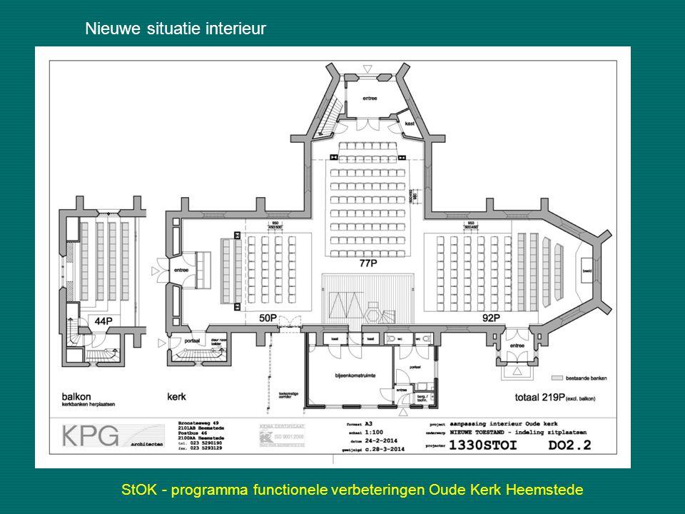 StOK - programma functionele verbeteringen Oude Kerk Heemstede Nieuwe situatie interieur