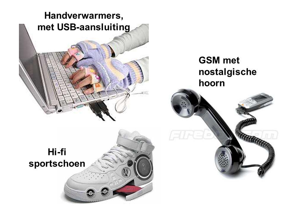 Handverwarmers, met USB-aansluiting Hi-fi sportschoen GSM met nostalgische hoorn