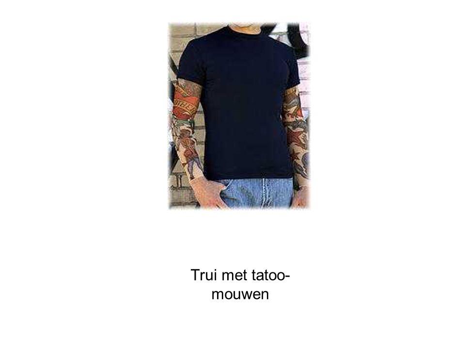 Trui met tatoo- mouwen