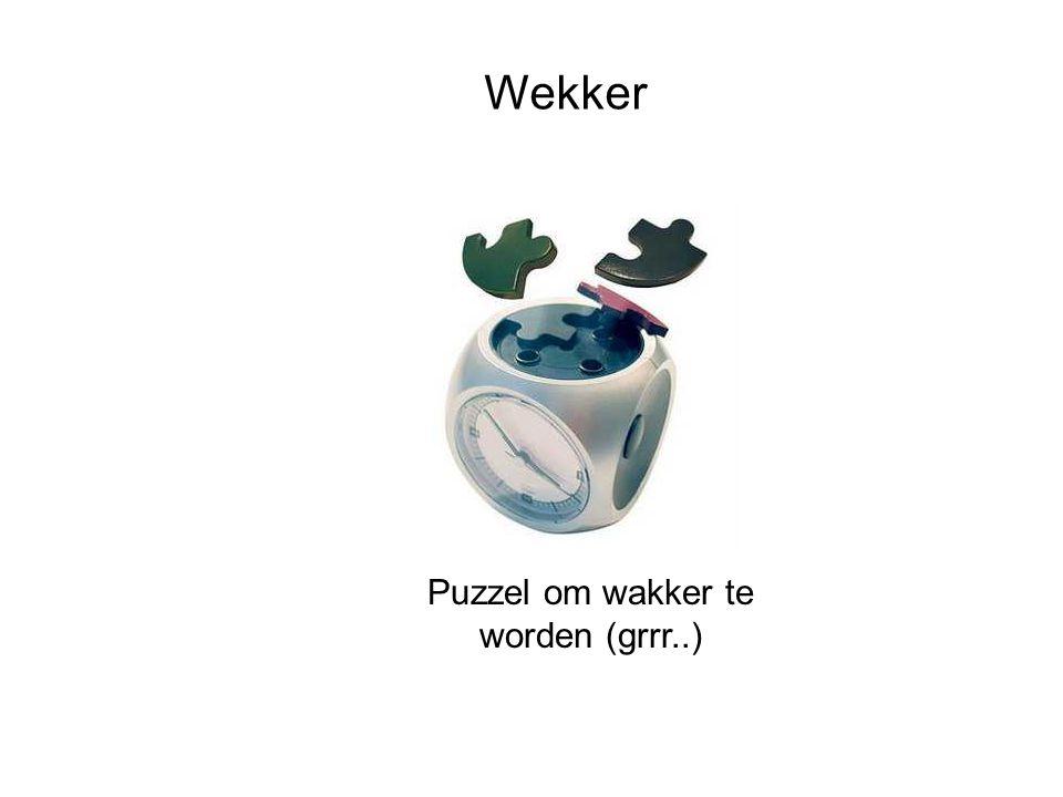 Wekker Puzzel om wakker te worden (grrr..)