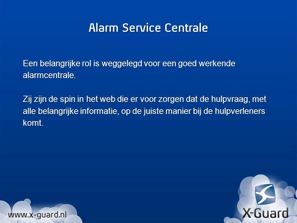 - Indien er binnen de ingestelde tijd geen meldingen meer binnen komen bij de Alarm Service Centrale dan zal dit worden gemeld als een Alarm.