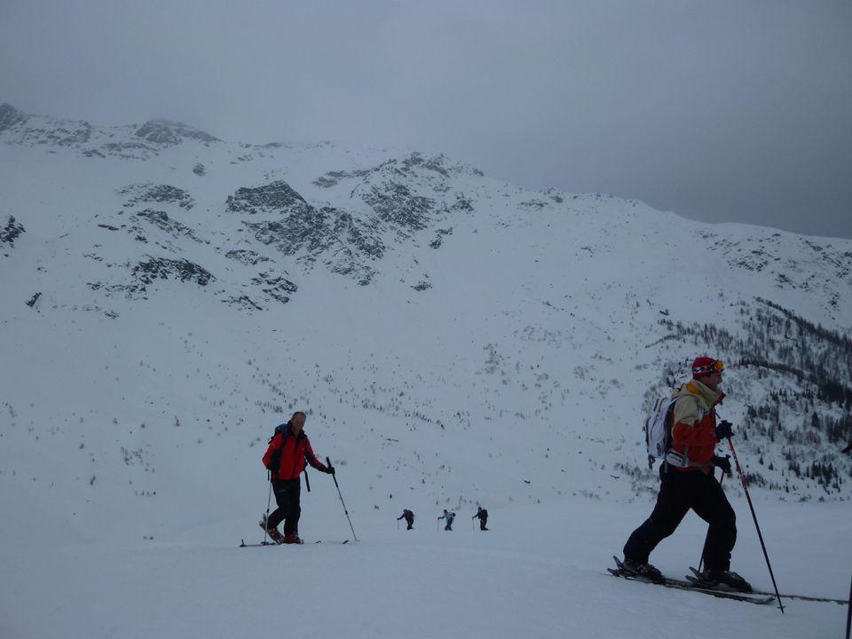 Start van de tocht -De aanloop is eenvoudig, naar de Tete Rousse hut.