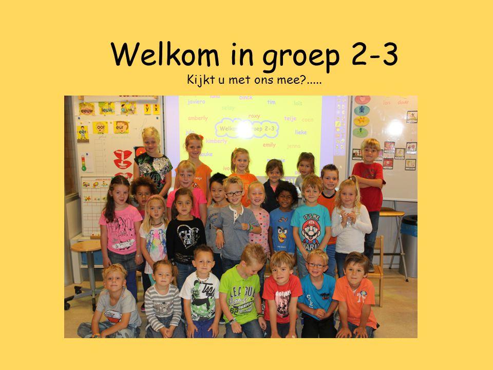 Welkom in groep 2-3 Kijkt u met ons mee?.....