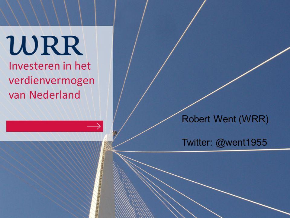 Investeren in het verdienvermogen van Nederland Robert Went (WRR) Twitter: @went1955