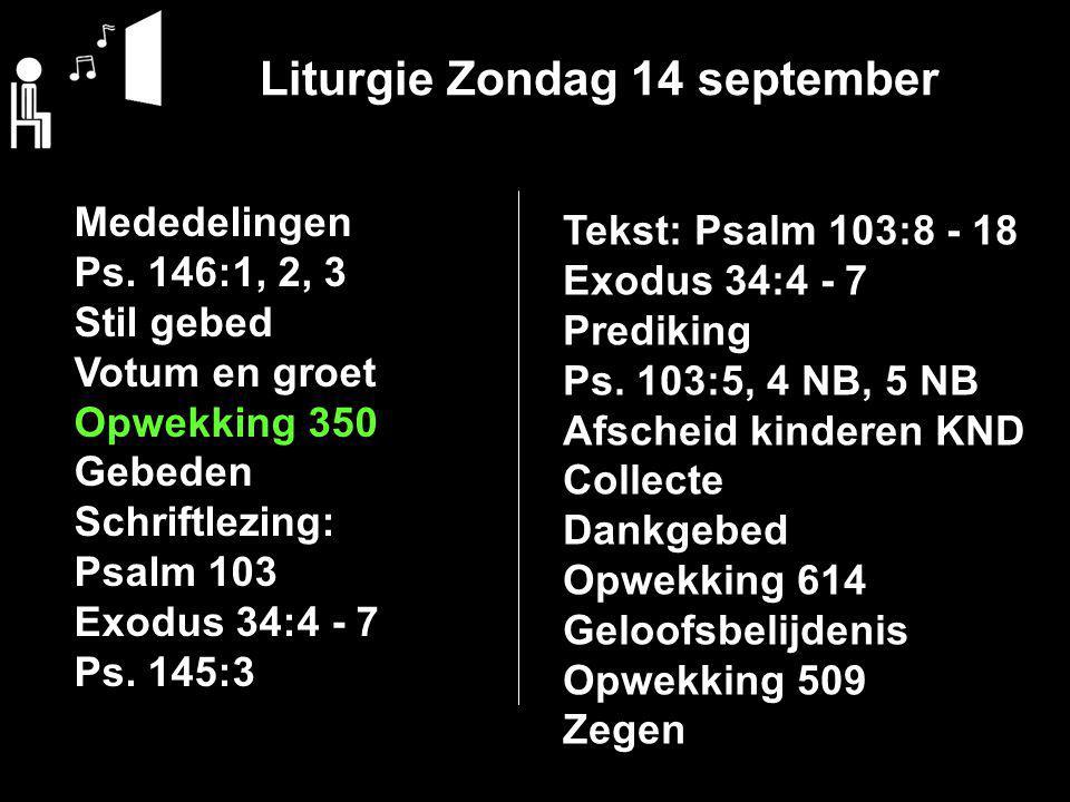 Zondag 21 september a.s. 10:00 uur Ds. J. van Dijken 17:00 uur Ds. G. J. Capellen