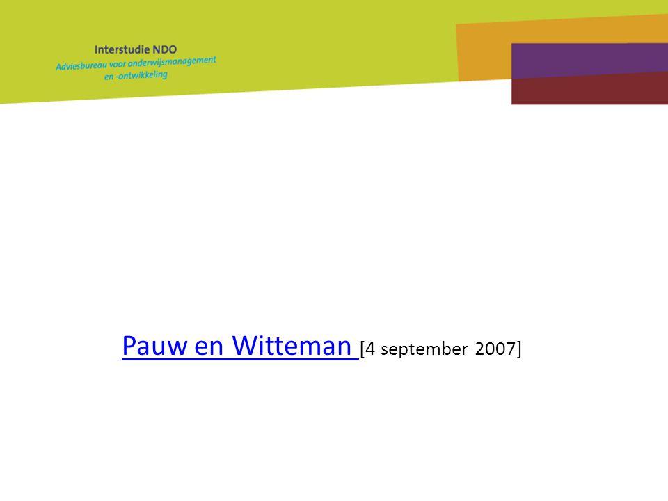 Pauw en Witteman Pauw en Witteman [4 september 2007]