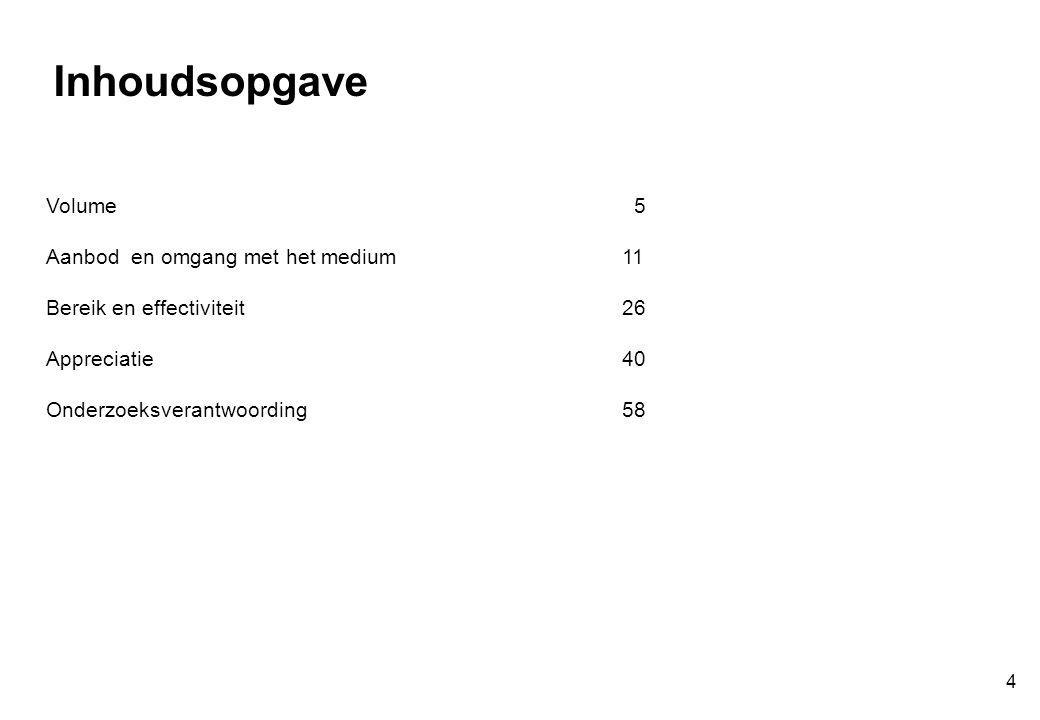 Respons uitgesplitst naar drie soorten (binnen bereik) Mate waarin folder heeft aangezet tot informatie aanvragen of koop(intentie) … 35