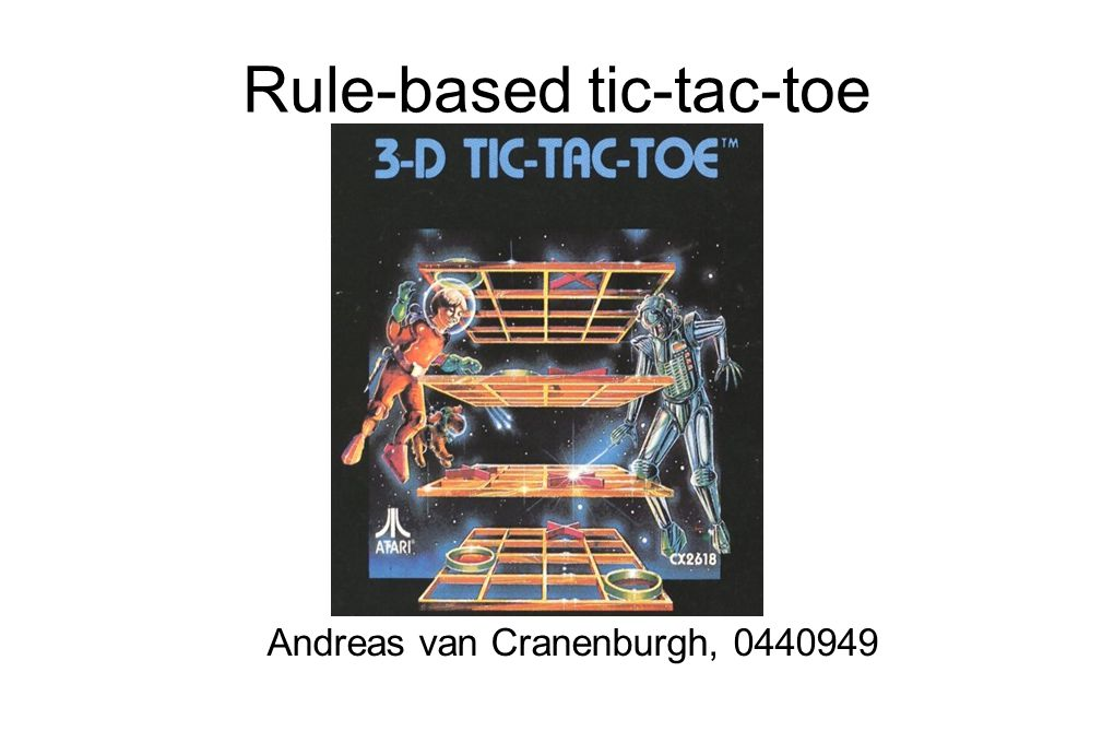 Rule-based tic-tac-toe Andreas van Cranenburgh, 0440949