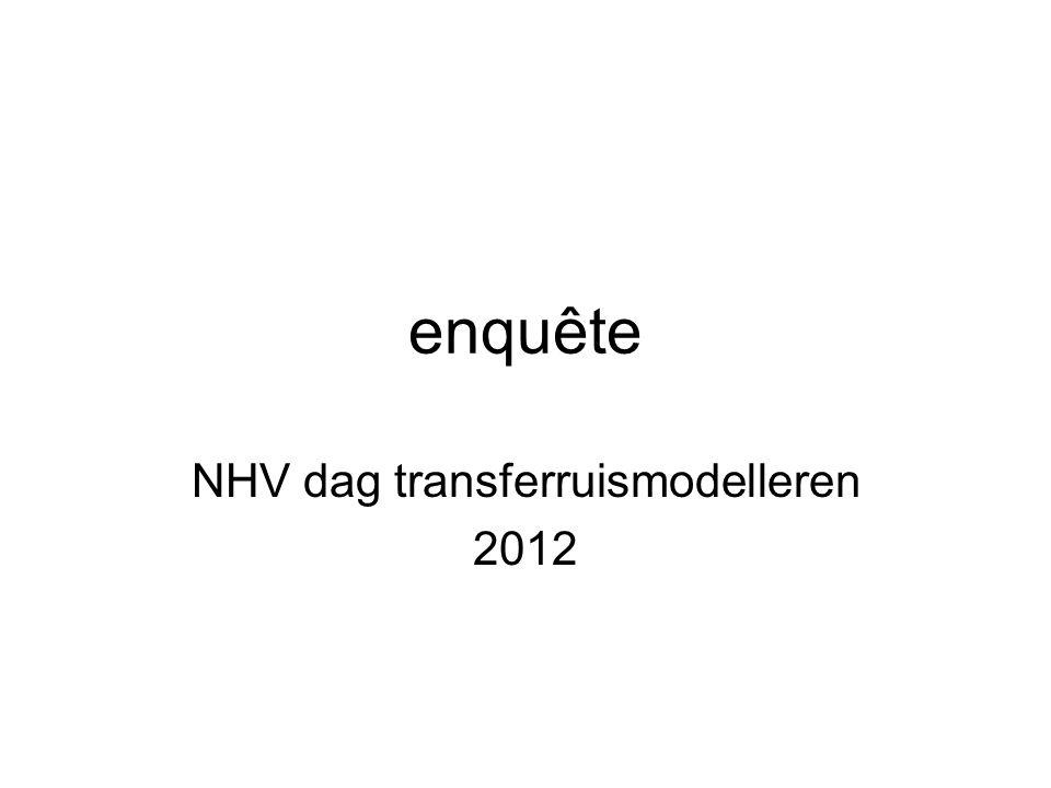 enquête NHV dag transferruismodelleren 2012