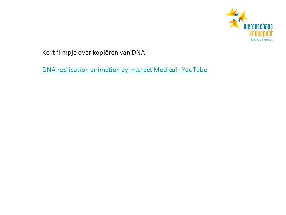 Kort filmpje over kopiëren van DNA DNA replication animation by interact Medical - YouTube