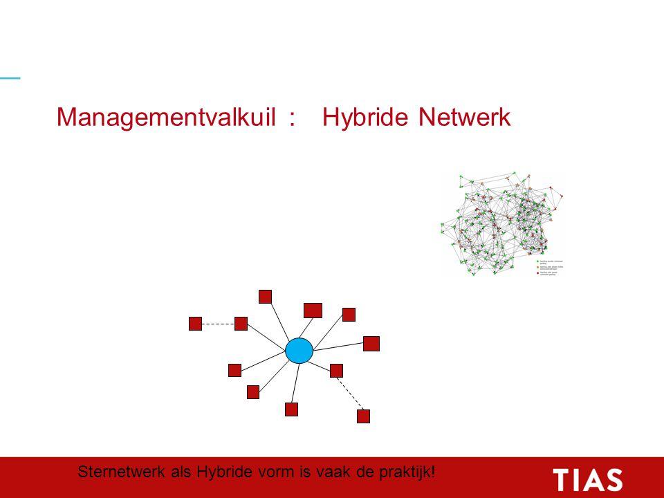 Managementvalkuil:Hybride Netwerk Sternetwerk als Hybride vorm is vaak de praktijk!