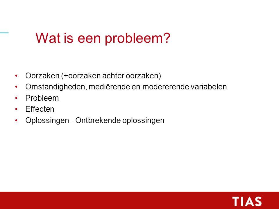 Wat is een probleem.