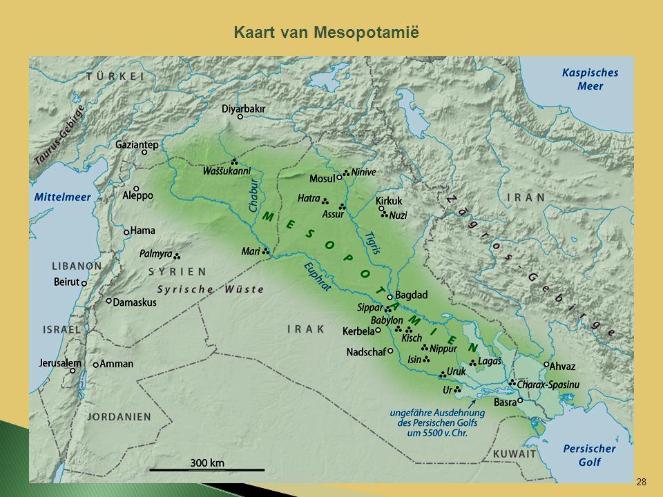 Kaart van Mesopotamië 28