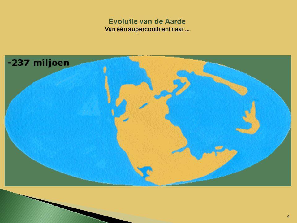 4 Evolutie van de Aarde Van één supercontinent naar...