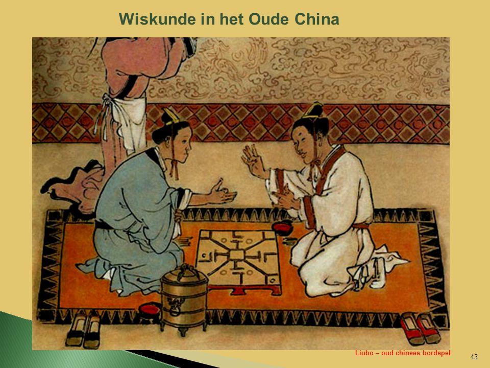 Wiskunde in het Oude China 43 Liubo – oud chinees bordspel