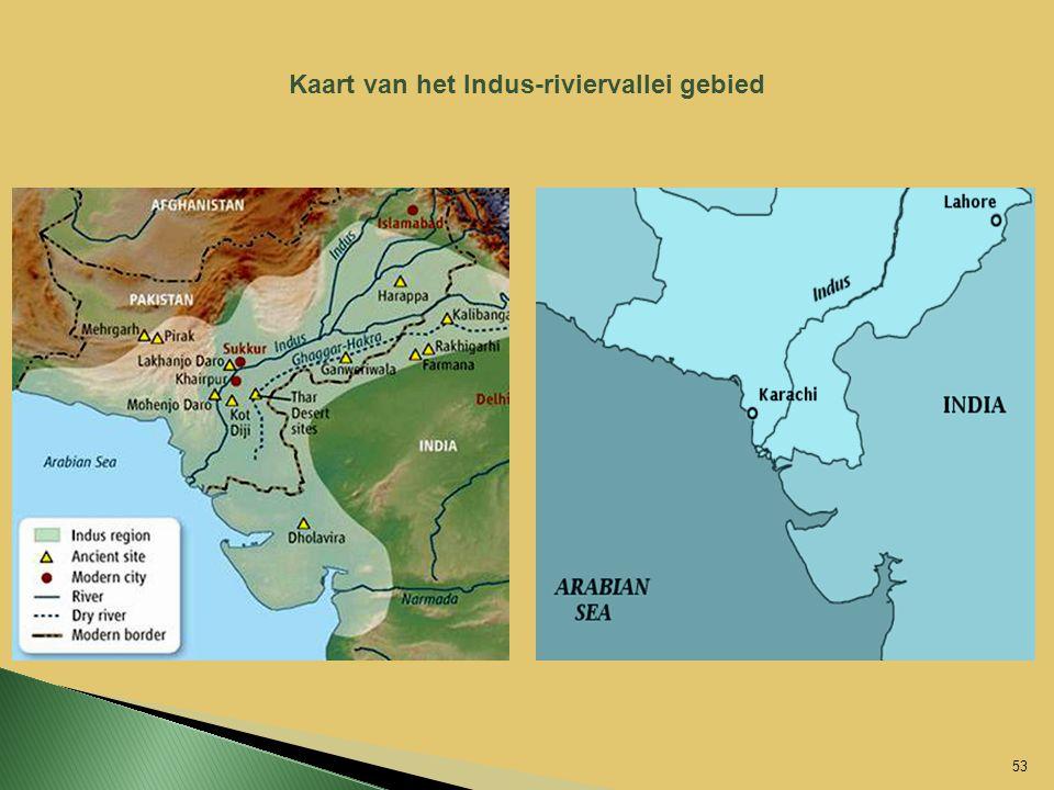 Kaart van het Indus-riviervallei gebied 53