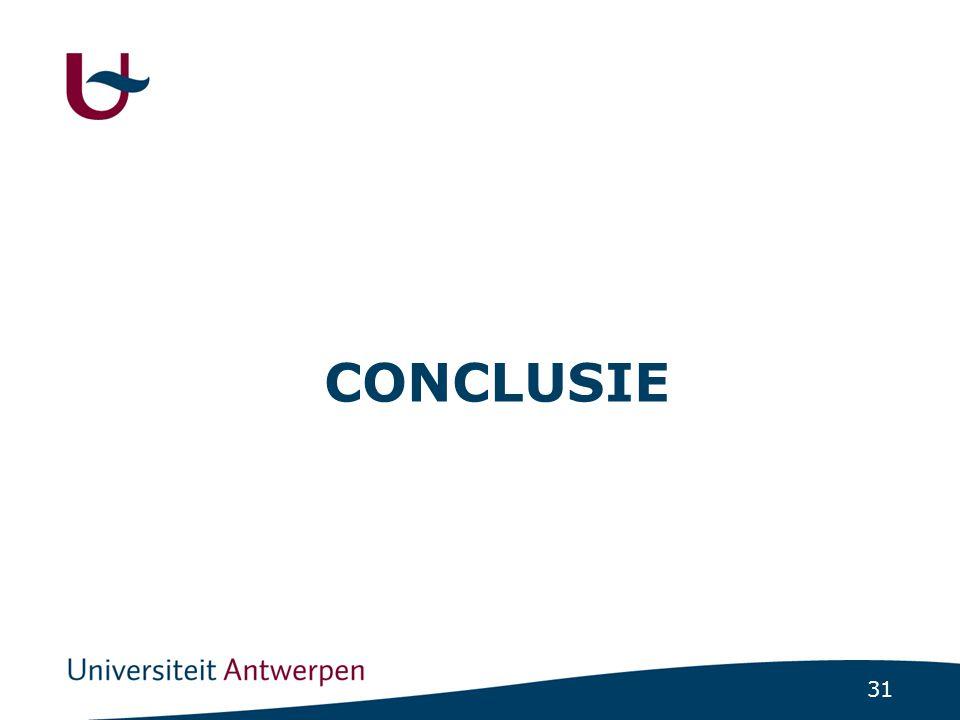 31 CONCLUSIE