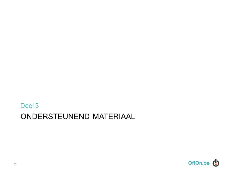 ONDERSTEUNEND MATERIAAL Deel 3 25