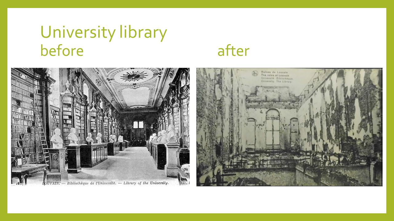 University library beforeafter