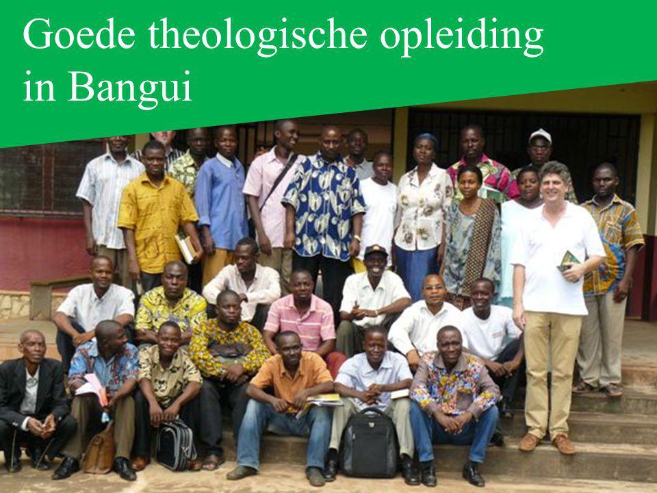 Goede theologische opleiding in Bangui