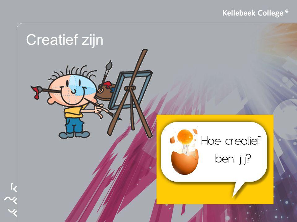 Creatief zijn