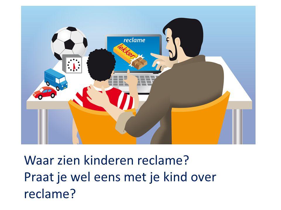 Waar zien kinderen reclame? Praat je wel eens met je kind over reclame?