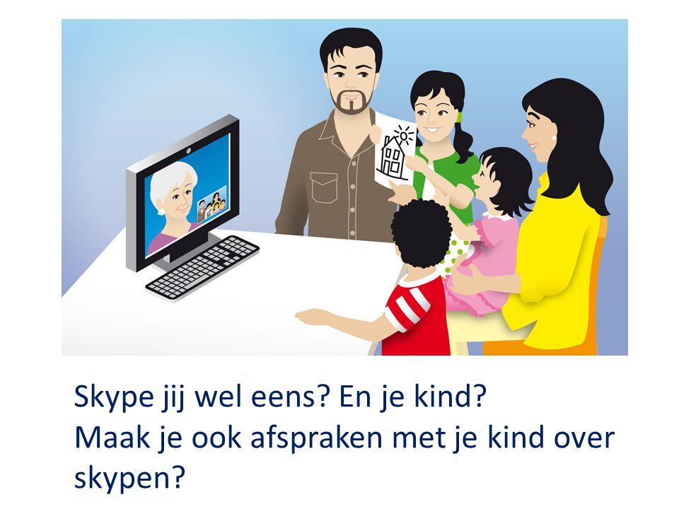 Skype jij wel eens? En je kind? Maak je ook afspraken met je kind over skypen?