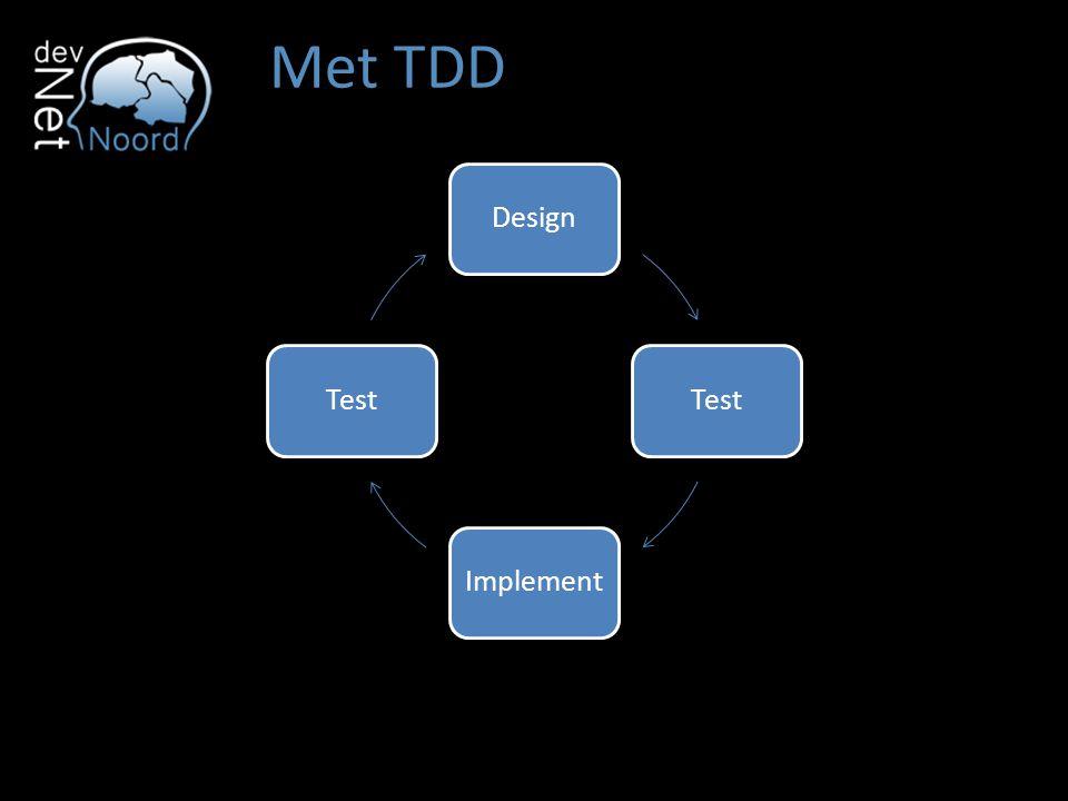 Met TDD DesignTestImplementTest