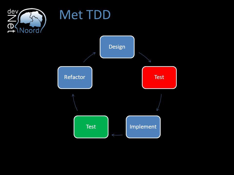 Met TDD DesignTestImplementTestRefactor