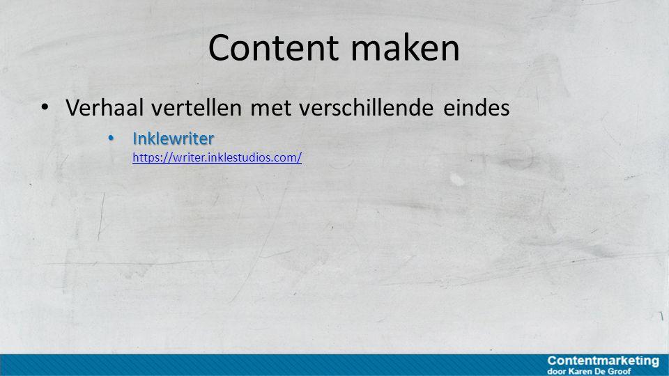 Content maken Verhaal vertellen met verschillende eindes Inklewriter Inklewriter https://writer.inklestudios.com/ https://writer.inklestudios.com/