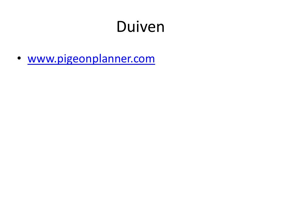Duiven www.pigeonplanner.com