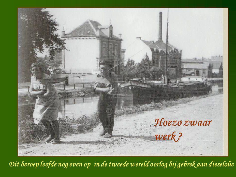 Scheepsjager Dit beroep leefde nog even op in de tweede wereld oorlog bij gebrek aan dieselolie Hoezo zwaar werk ?