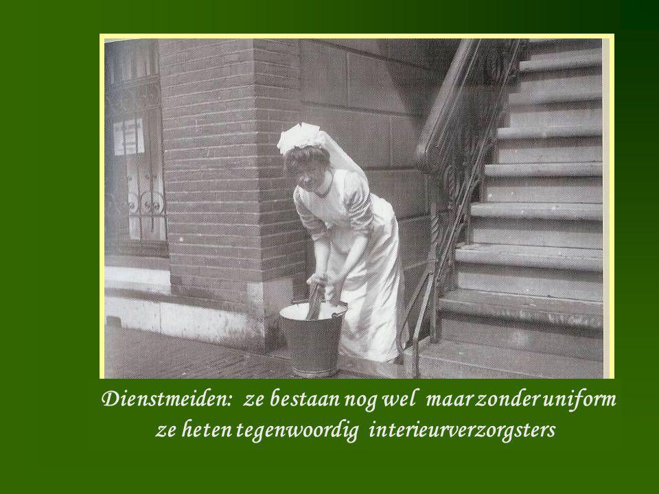 Dienstmeid Dienstmeiden: ze bestaan nog wel maar zonder uniform ze heten tegenwoordig interieurverzorgsters