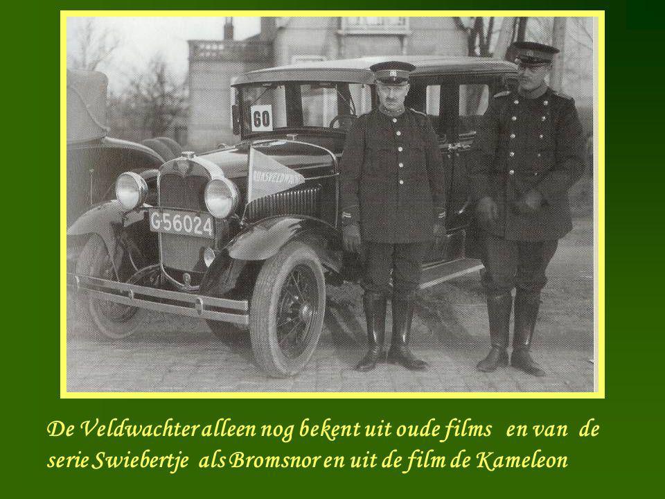 Veldwachter De Veldwachter alleen nog bekent uit oude films en van de serie Swiebertje als Bromsnor en uit de film de Kameleon