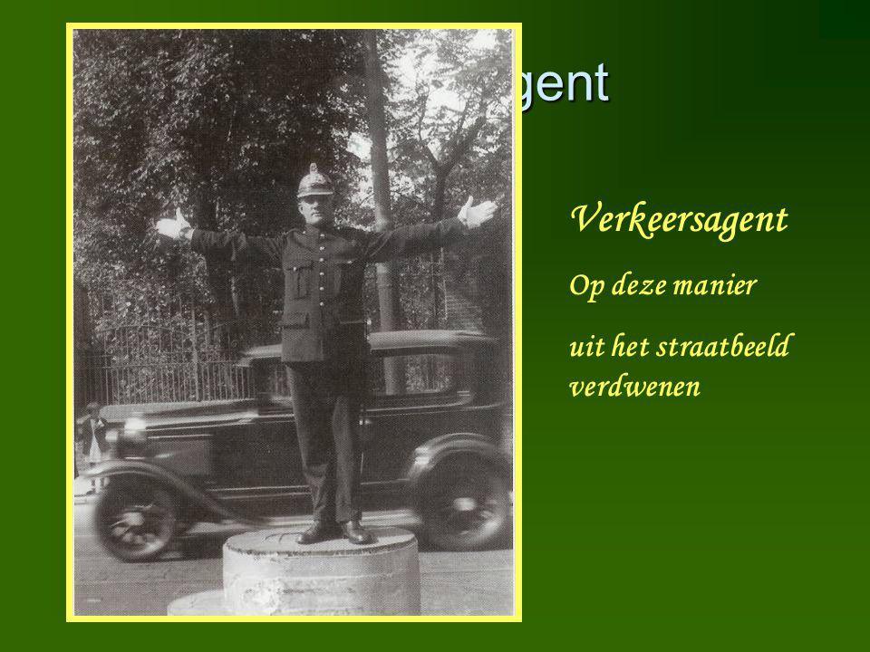 Verkeersagent Verkeersagent Op deze manier uit het straatbeeld verdwenen