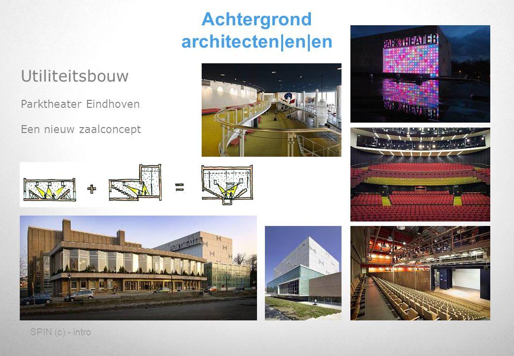 SPIN (c) - intro Utiliteitsbouw Parktheater Eindhoven Een nieuw zaalconcept Achtergrond architecten en en