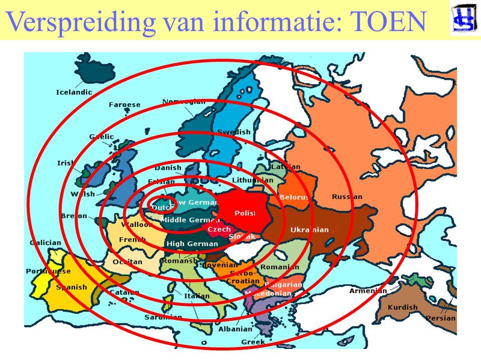 Verspreiding van informatie: TOEN