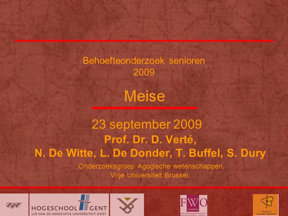 Behoefteonderzoek senioren 2009 Prof.Dr. D. Verté, N.