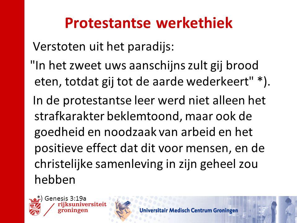 Protestantse werkethiek Verstoten uit het paradijs: